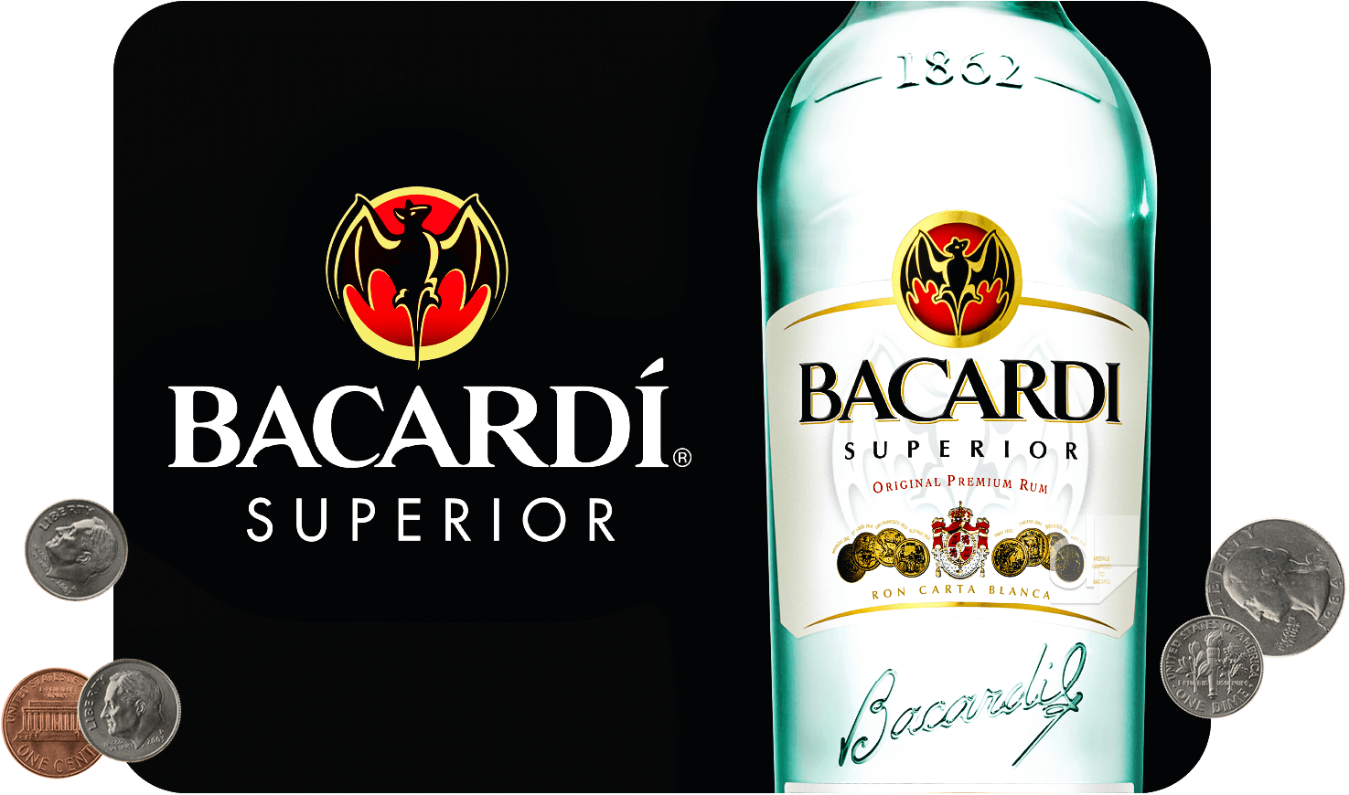 Counter Mat Custom Subsurface Printed by Dilco for Bacardi Rum