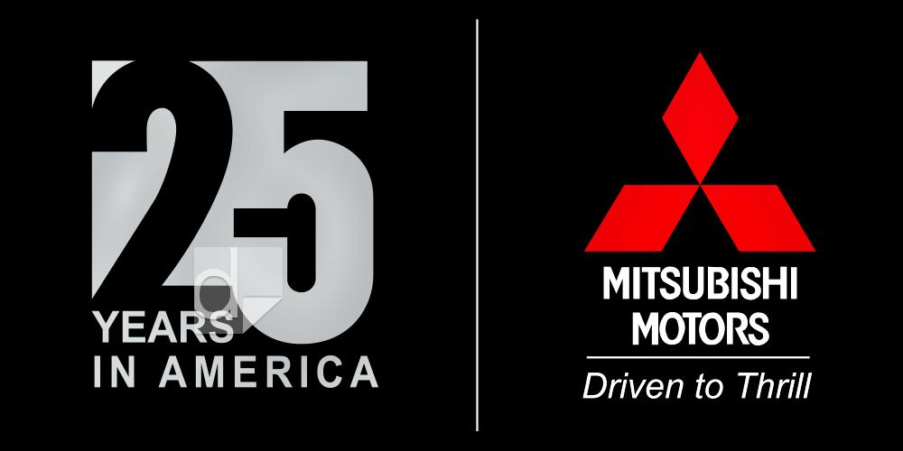 Custom screen printed styrene sign using 3 PMS spot colors for Mitsubishi Motors