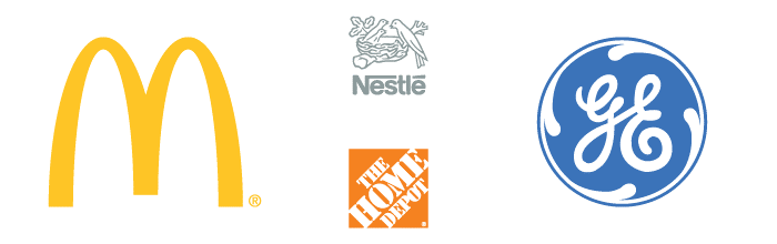 Dilco clients' logos: GE, Kmart, McDonald's, The Home Depot, Nestle, and Disney.