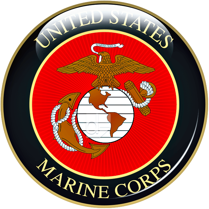 Mini domed decal printed by Dilco for US Marine Corps.