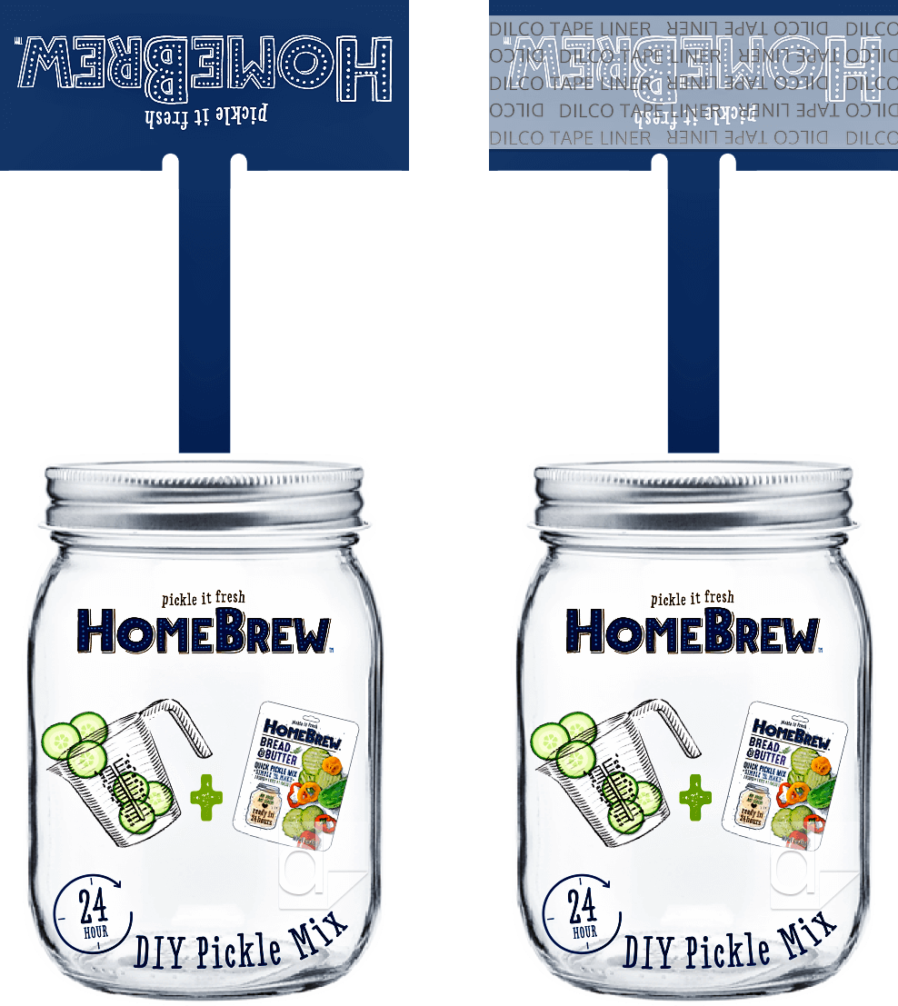 Double-sided shelf wobbler printing by Dilco for HomeBrew, custom die cut
