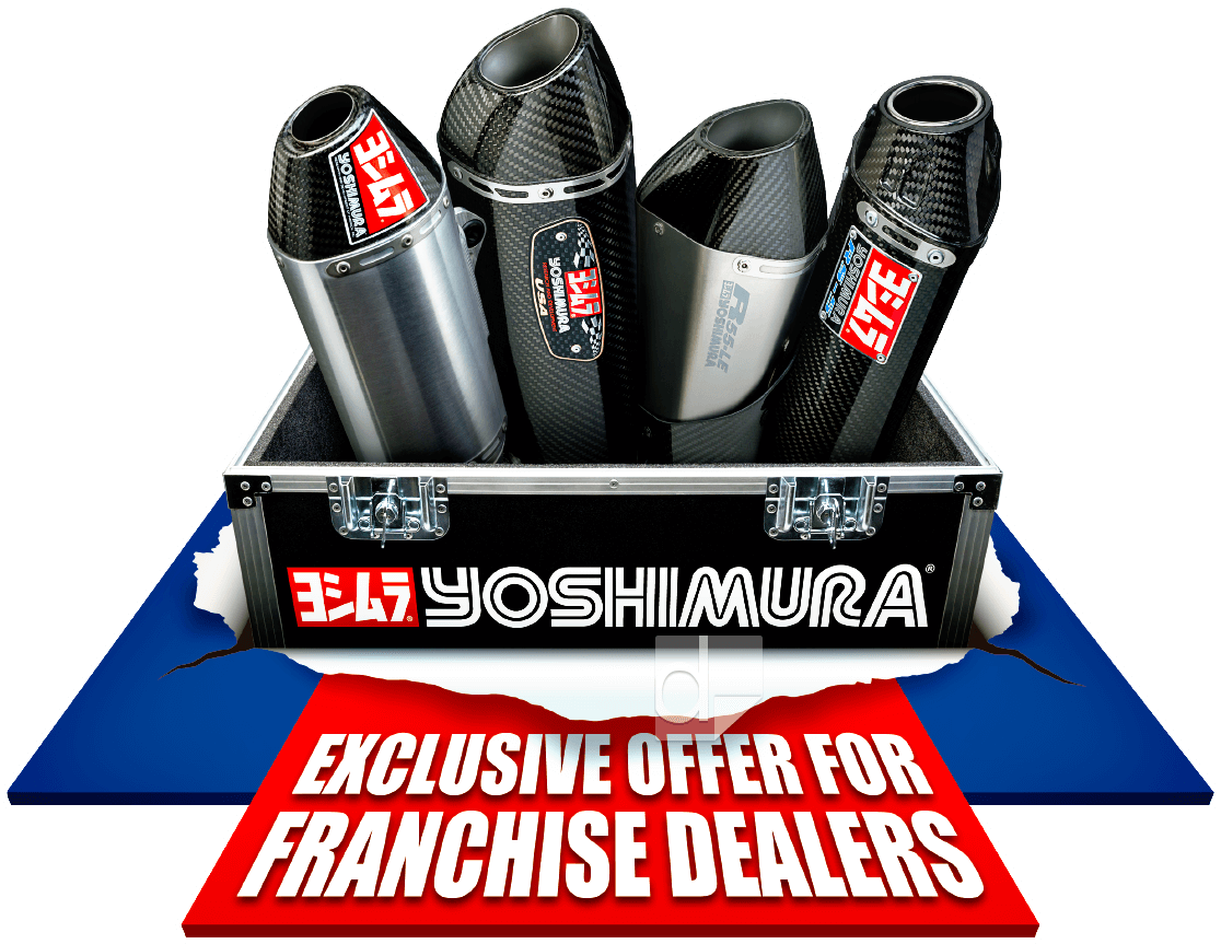 Floor graphic decal that was printed and then custom die cut by Dilco for Yoshimura