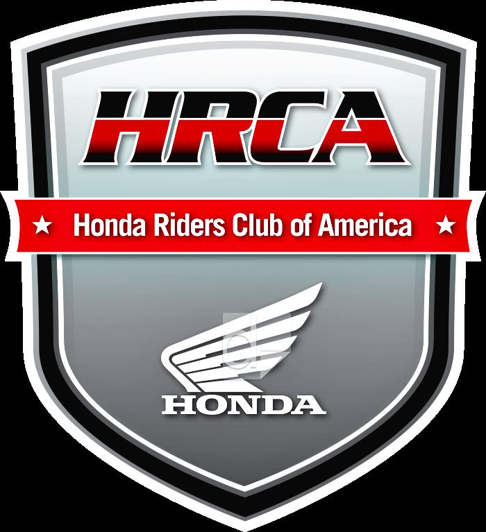 Custom die cut screen printed decal by Dilco for Honda Riders Club shaped like a badge