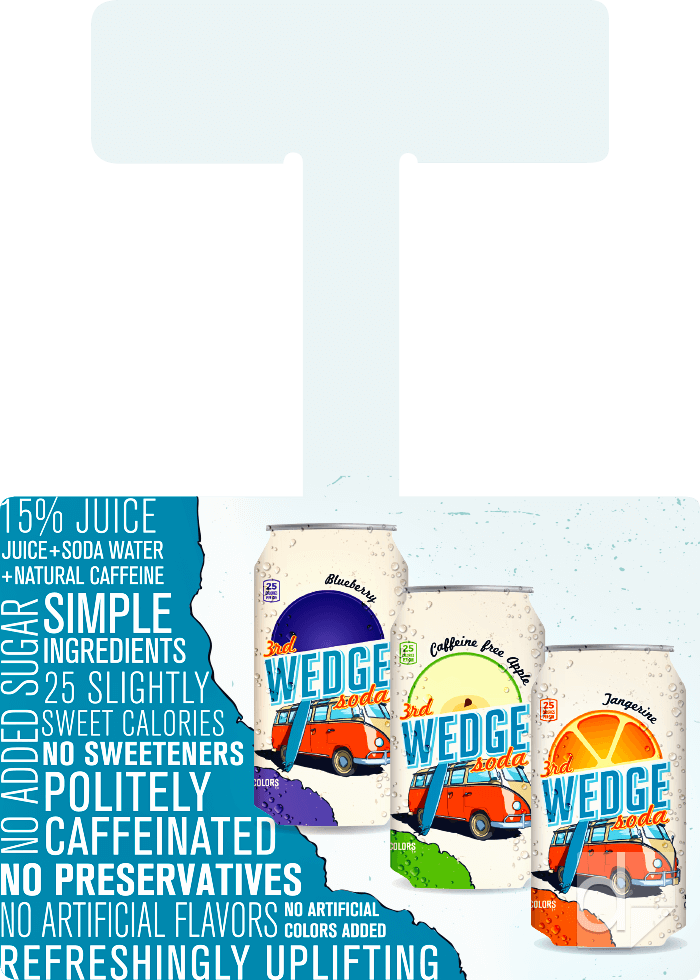 Shelf Wobbler from 5.5x3.75 Template Full-Color Printing by Dilco for Wedge Soda