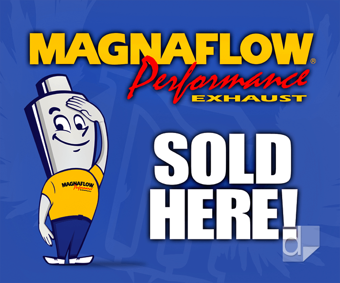 This Static Cling Vinyl Decal was 4-color process printed for Magnaflow by Dilco.