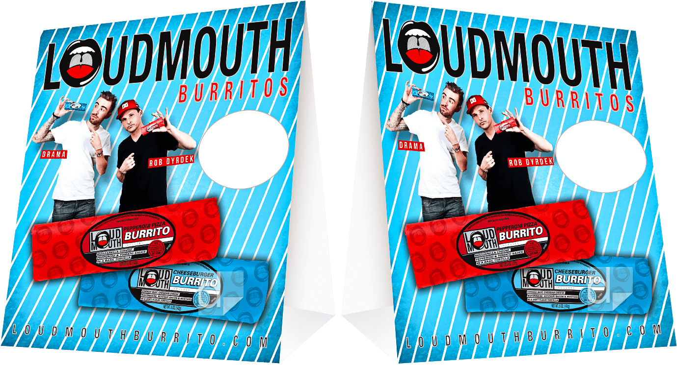 Printed Table Tents for C-Stores by Dilco for Loudmouth Burritos